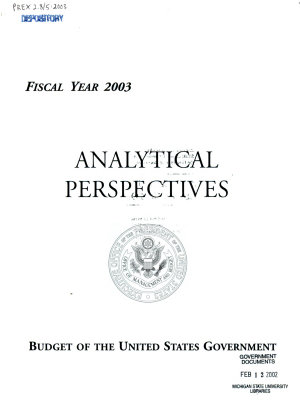 Budget of the United States Government PDF