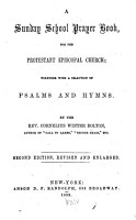 A Sunday School Prayer Book  for the Protestant Episcopal Church PDF