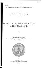 Information Concerning the Mexican Cotton Boll Weevil