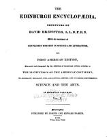 The Edinburgh Encyclop  dia Conducted by David Brewster  with the Assistance of Gentlemen Eminent in Science and Literature PDF