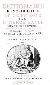 Dictionaire historique et critique: Volume 1