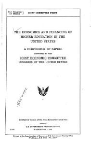 The Economics and Financing of Higher Education in the United States PDF