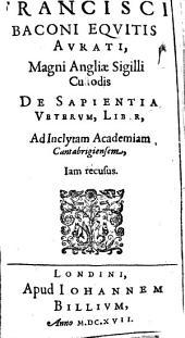De sapientia veterum liber
