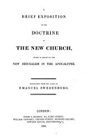 A Brief Exposition of the Doctrine of the New Church  etc PDF
