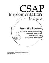 From the Source: A Guide for Implementing Perinatal Addiction Prevention and Treatment Programs