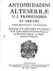 Notae et observationes in X libros Historiae Francorum