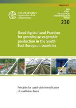 Good agricultural practices for greenhouse vegetable production in the South East European countries PDF