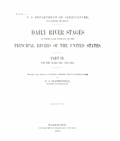 Daily River Stages at River-guage Stations on the Principal Rivers of the United States for the Years 1858-: Volumes 9-10