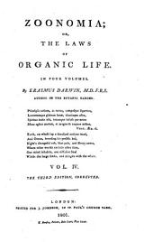 Zoonomia Or the Laws of Organic Life: Volume 4