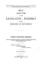 Acts of the Legislative Assembly of the Territory of New Mexico, Session...
