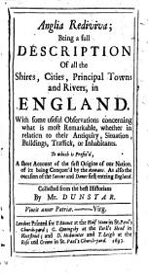 Anglia rediviva PDF