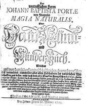 Magia Naturalis, Oder: Hauß-, Kunst- und Wunder-Buch