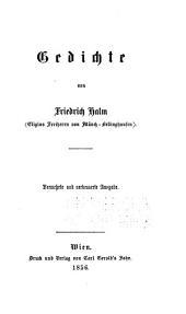 Friedrich Halm's (Eligius freiherrn von Münch-Belling-hausen) werke...: Volume 1