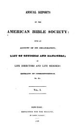 Annual Report of the American Bible Society: Volume 1