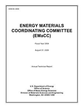 Energy Materials Coordinating Committe  EMaCC   Fiscal Year 2004 Annual Technical Report PDF