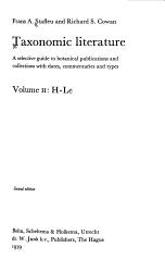 Taxonomic Literature H Le Book PDF
