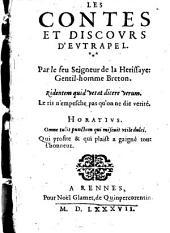 Contes et Discours d'Eutrapel