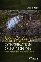 Ecological Challenges and Conservation Conundrums PDF