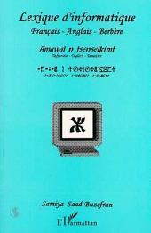 Lexique d'informatique français-anglais-berbère