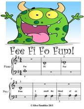 Fee Fi Fo Fum - Beginner Tots Piano Sheet Music