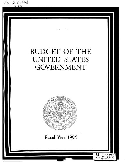 The Budget of the United States Government PDF
