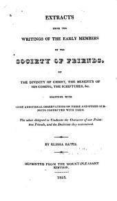 Extracts from the Writings of the Early Members of the Society of Friends