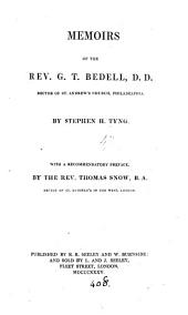 Memoirs of the rev. G.T. Bedell: Part 4