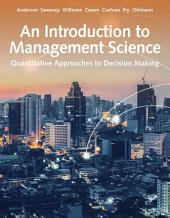 An Introduction to Management Science: Quantitative Approach: Edition 15