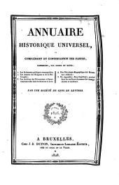 Annuaire historique universel, ou complément et continuation des Fastes