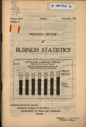 Monthly Review of Business Statistics