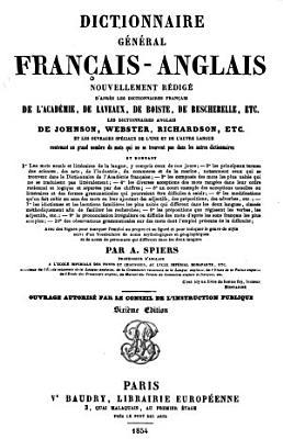 Dictionnaire g  n  ral fran  ais anglais PDF