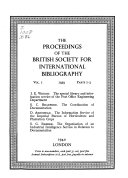 The Proceedings of the British Society for International Bibliography PDF