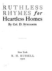 Ruthless Rhymes for Heartless Homes
