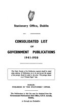 Consolidated List of Government Publications PDF