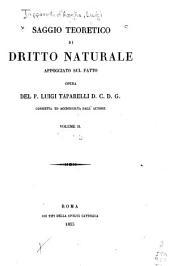 Saggio teoretico di dritto naturale: appoggiato sul fatto, Volume 2