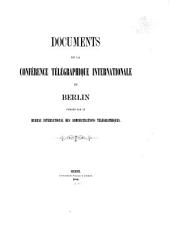 Documents de la Conférence télégraphique internationale de Berlin