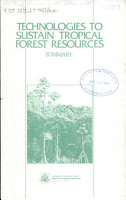 Technologies to sustain tropical forest resources PDF