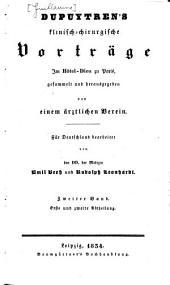 Klinisch-chirurgische Vorträge im Hôtel-Dieu zu Paris: Band 2