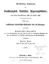 Vollständige Sammlung der Großherzoglich-Badischen Regierungsblätter: Band 2