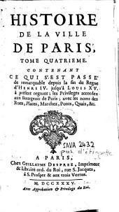 Histoire de la ville de Paris: Volume4