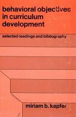 Behavioral Objectives in Curriculum Development