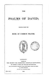 The Psalms of David; printed from the Book of common prayer