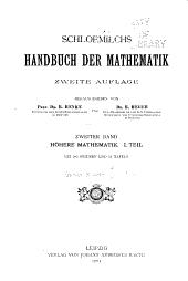 Schloemilchs Handbuch der mathematik: Band 2