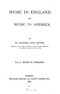 Music in England and Music in America PDF