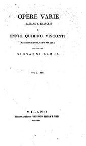 Opere varie, italiane e francesi: Volume3