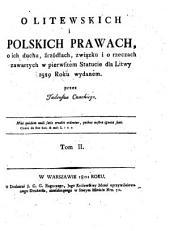 Olitewskich i Polskich Prawach