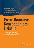 Pierre Bourdieus Konzeption des Habitus PDF