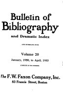 Bulletin of Bibliography PDF