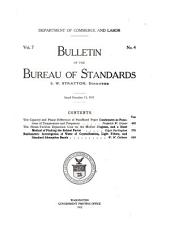 Bulletin of the Bureau of Standards: Volume 7, Issues 143-168