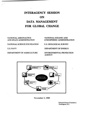 Interagency Session on Data Management for Global Change PDF
